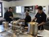 Vorbereitungen in der Küche